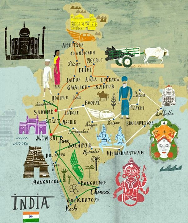 ©Martin Haake- Map of India