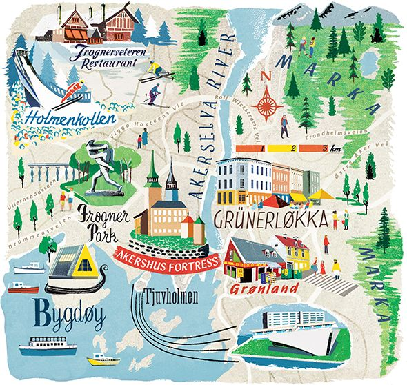 ©Anna Simmons - Map of Oslo